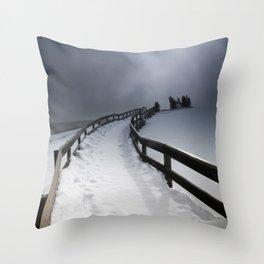 A Yellowstone Winter Throw Pillow