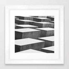 Cubic Labyrinth Framed Art Print