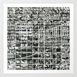 A Symbol of Belonging (P/D3 Glitch Collage Studies) Art Print