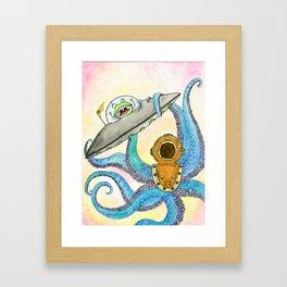Alien vs Octopus Framed Art Print