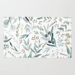 Eucalyptus pattern Rug