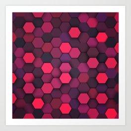 Geometric bright polygonal pattern  Art Print
