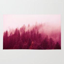 Red Forest Fog Rug