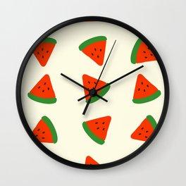 Summer Watermelons Wall Clock