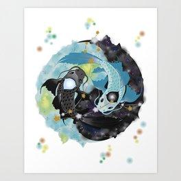 Dream Kois: Piscis Art Print