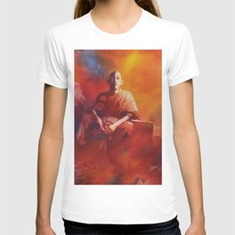 Buddhist monk inside of residence in the city of Phnom Penh- Cambodia T-shirt
