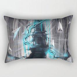 Blue Zen Temple Royal Stain Rectangular Pillow