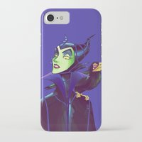 maleficent iPhone & iPod Cases featuring Maleficent by KanaHyde