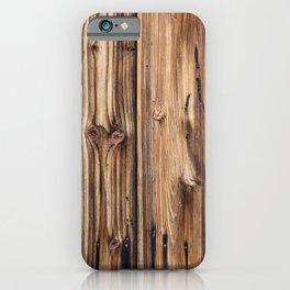 Wood pattern iPhone Case