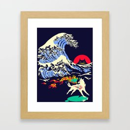 The Great Wave off Oni Island Framed Art Print