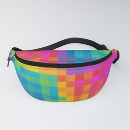 Colorful Pixelated Art Pattern Fanny Pack