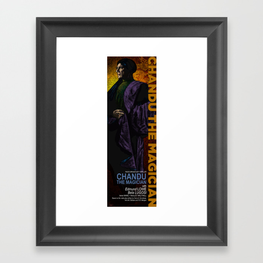 Chandu The Magician Movie Poster Reimagined Framed Art Print by Woofang FRM8730921