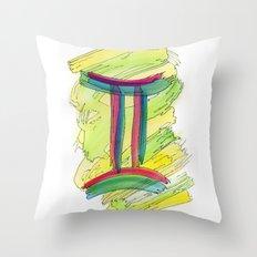 Gemini Flow Throw Pillow