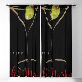 Olive Martini Blackout Curtain