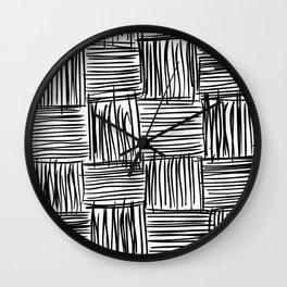 Modern Square Black on White Wall Clock