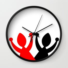 Dancing ladies - abstract Wall Clock