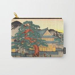 Sekko's Pine Tree at Myoshin-ji Temple by Hasegawa Sadanobu - Japanese Vintage Ukiyo-e Woodblock Pai Carry-All Pouch
