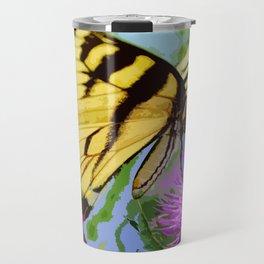 Yellow butterfly beauty 2 Travel Mug