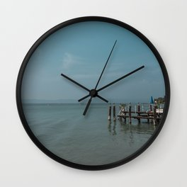 Italy in blue - Sirmione Wall Clock