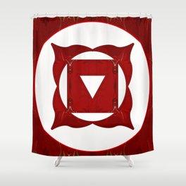 Go Deep Abstract Chakra Art  Shower Curtain