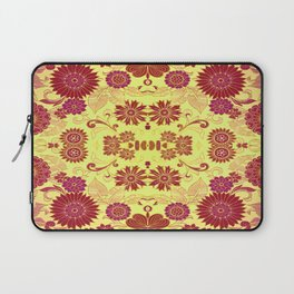 Red Retro Floral Laptop Sleeve