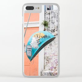 Brazillian telephone booth Clear iPhone Case