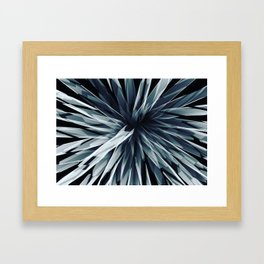 Perspective Facets-Retro Blue Framed Art Print