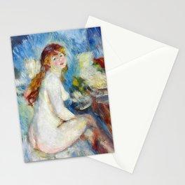 "Pierre Auguste Renoir ""Buste de femme nue"" Stationery Cards"