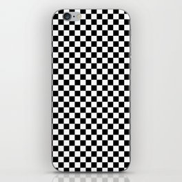 Black and White Check iPhone Skin