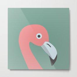 Cute Flamingo Metal Print