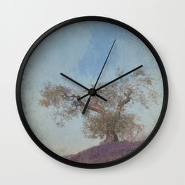 Olive Tree and Lavender Wall Clock