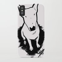 bull terrier iPhone & iPod Cases featuring bull terrier by sabrina.gennari