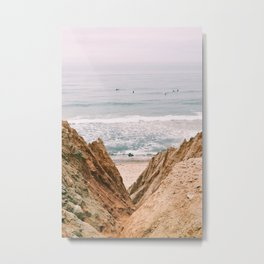 Down The Cliff Metal Print