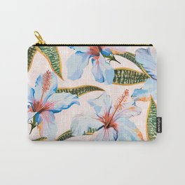 Tropical Pattern - Flowers and Plants Carry-All Pouch