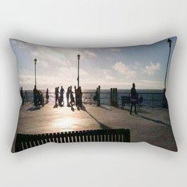 A Bench Tells Many Stories Rectangular Pillow