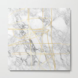 Marble Gold Session III-I Metal Print