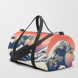 The Great Wave Of  French Bulldog Duffle Bag
