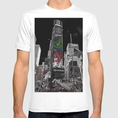 Times Square Mens Fitted Tee White MEDIUM