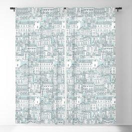 Bath toile pine mint Blackout Curtain