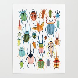 Woodland Beetles Poster
