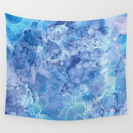 Ice Abstraction Wall Tapestry