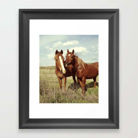 Horse Affection Framed Art Print