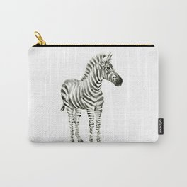Zebra Watercolor Baby Animals Carry-All Pouch