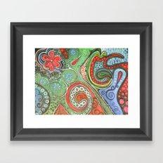 octopaisley Framed Art Print