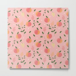 Peachy pattern Metal Print