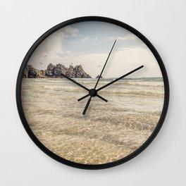 Perfect days, Pedn Vounder Beach, Cornwall. Wall Clock