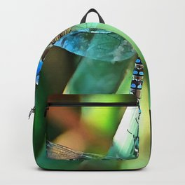 Fantasy Dragonfly In Turquoise and Black Backpack