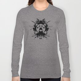 Kirby Ink Blot Geek Psychological Disorders Long Sleeve T-shirt