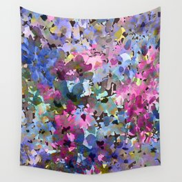 Little Blue Delphiniums Wall Tapestry