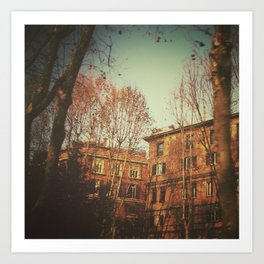A warm day in Rome. Art Print